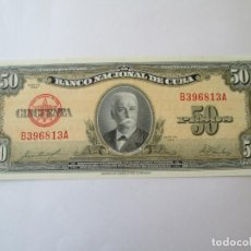 Billetes extranjeros: BILLETE * 50 PESOS 1958 CUBA * PLANCHA. Lote 190563806