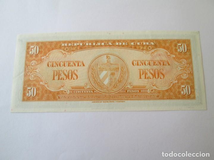 Billetes extranjeros: BILLETE * 50 PESOS 1958 CUBA * PLANCHA - Foto 2 - 190563806
