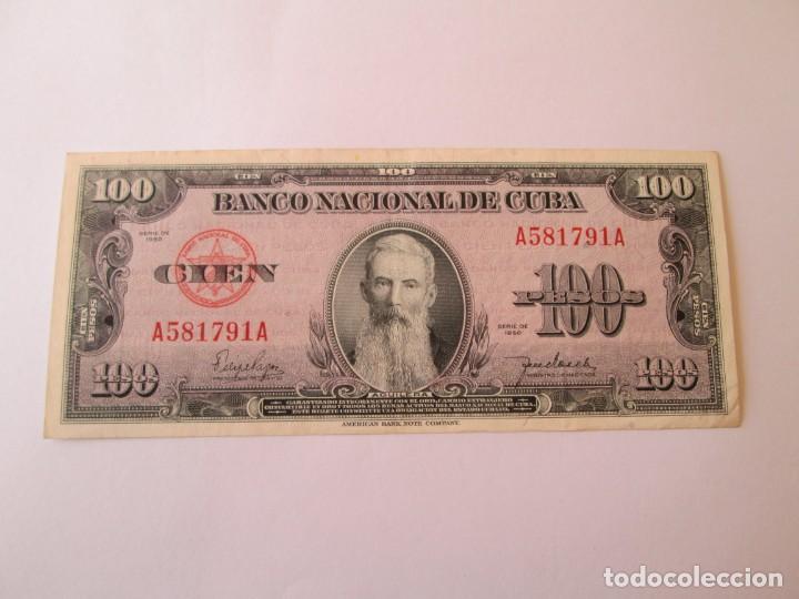 BILLETE * 100 PESOS 1950 CUBA (Numismática - Notafilia - Billetes Extranjeros)