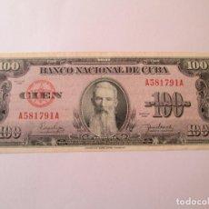 Billetes extranjeros: BILLETE * 100 PESOS 1950 CUBA . Lote 190564180