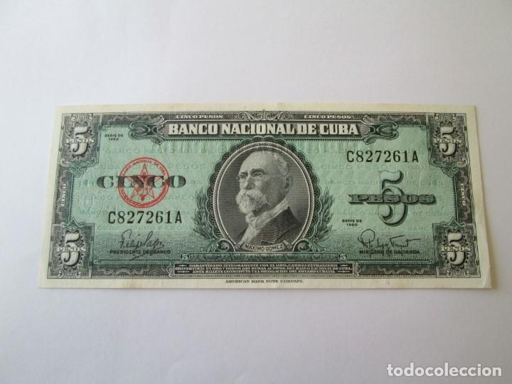BILLETE * 5 PESOS 1960 CUBA * PLANCHA (Numismática - Notafilia - Billetes Extranjeros)
