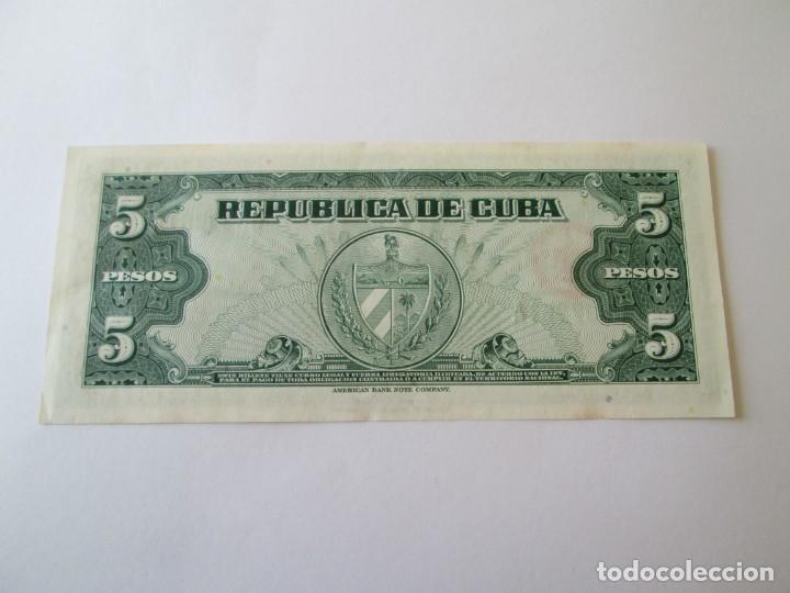 Billetes extranjeros: BILLETE * 5 PESOS 1960 CUBA * PLANCHA - Foto 2 - 190564295