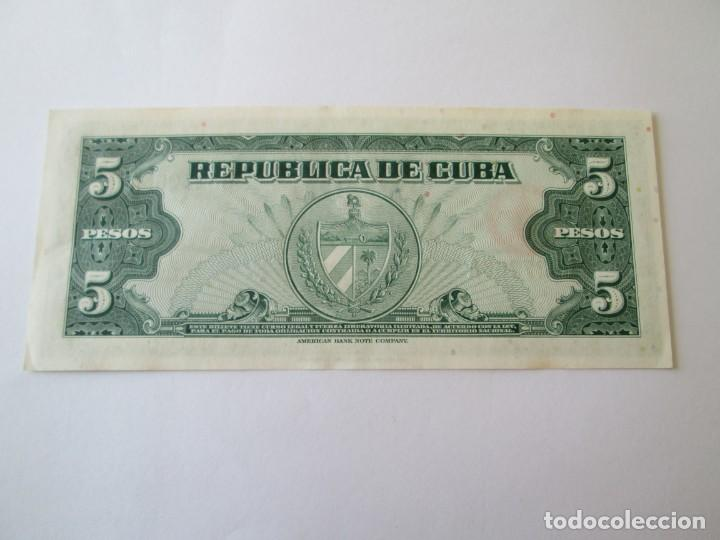 Billetes extranjeros: BILLETE * 5 PESOS 1960 CUBA * PLANCHA - Foto 2 - 190564317