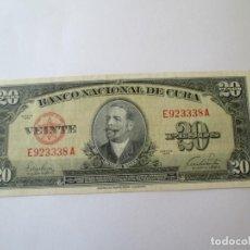 Billetes extranjeros: BILLETE * 20 PESOS 1949 CUBA. Lote 190564522