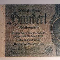 Billetes extranjeros: REICHSBANKNOTE 100 BERLIN 24 JUNI 1935. Lote 190604655