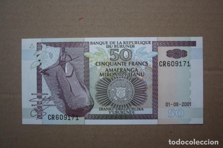 BURUNDI - 50 FRANCOS 01-08-2001 S/C (Numismática - Notafilia - Billetes Extranjeros)