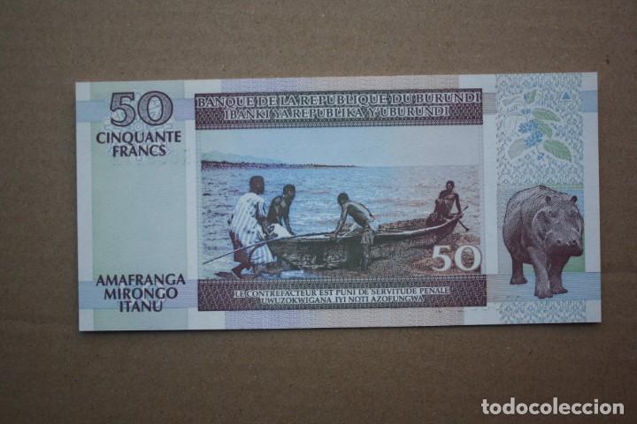 Billetes extranjeros: BURUNDI - 50 FRANCOS 01-08-2001 S/C - Foto 2 - 190873061