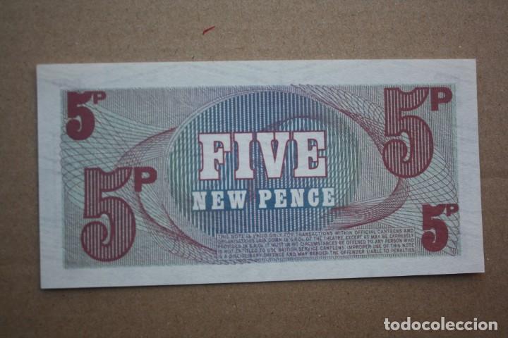 Billetes extranjeros: BILLETE DE LAS FUERZAS ARMADAS INGLESAS - 5 NUEVOS PENIQUES - 6ª SERIE - S/C - Foto 2 - 190873705