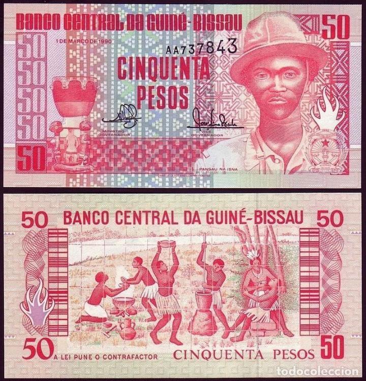 GUINEA-BISSAU - 50 PESOS - 1 DE MARÇO DE 1990 - S/C (Numismática - Notafilia - Billetes Extranjeros)