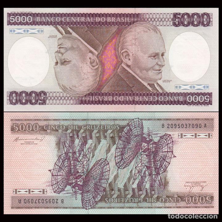 BRASIL - 5000 CRUZEIROS - SIN FECHA (1984) - S/C (Numismática - Notafilia - Billetes Extranjeros)