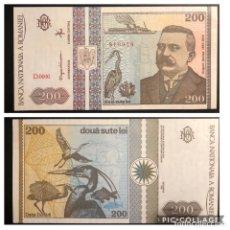 Notas Internacionais: BILLETE RUMANIA. 200 LEÍ. 1992.EBC+++. Lote 191186798
