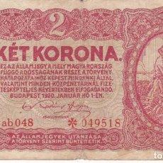 Billetes extranjeros: BILLETE DE BUDAPEST 1920 USADO. Lote 191339140