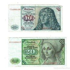 Billetes extranjeros: 10 Y 20 MARCOS - ALEMANIA - 1989. Lote 191502973