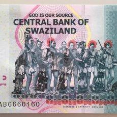 Billets internationaux: SWAZILANDIA. 10 EMALAGENI. Lote 191521353