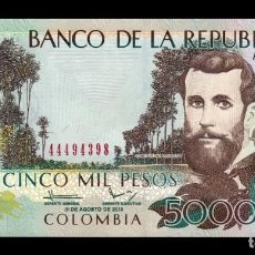 Banconote internazionali: COLOMBIA 5000 PESOS 2013 PICK 452O SC UNC. Lote 291161018