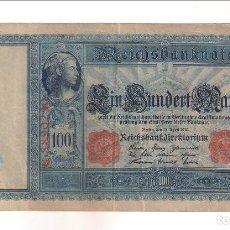 Billetes extranjeros: BILLETE DE 100 MARCOS DE ALEMANIA DE 1910. MBC. WORLD PAPER MONEY-42 (BE205). Lote 191625713