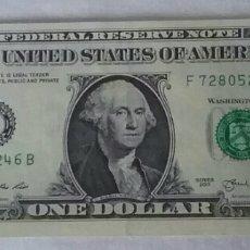 Billetes extranjeros: BILLETE DE UN DOLLAR AMERICANO.WASHINGTON.SERIES 2013. Lote 191655736