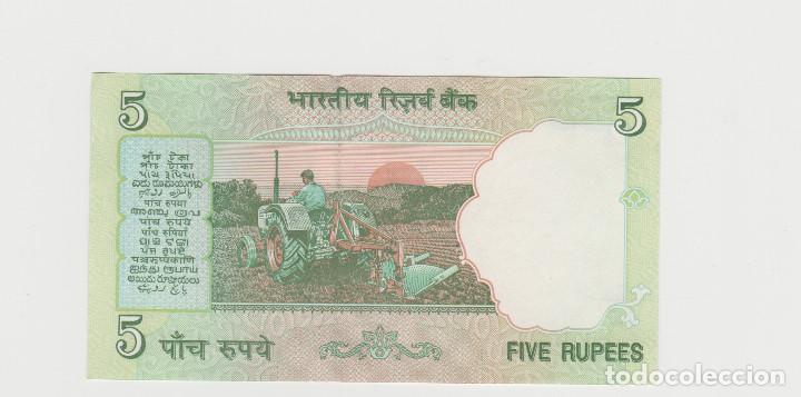 Billetes extranjeros: INDIA- 5 RUPIAS- SC - Foto 2 - 191700810