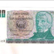 Billetes extranjeros: BILLETE 1.000 PESOS ARGENTINOS DE ARGENTINA DE 1983-85. SIN CIRCULAR. WORLD PAPER MONEY-317 (BE457). Lote 191724515