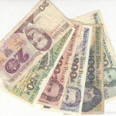 Billets internationaux: POLONIA - LOTE 8 BILLETES. Lote 191797881