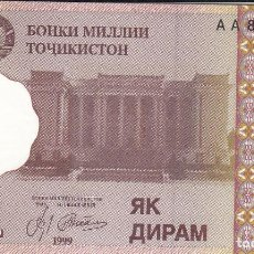 Billets internationaux: TAYIKISTAN - LOTE 3 BILLETES. Lote 191803266