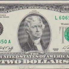 Billetes extranjeros: BILLETES - ESTADOS UNIDOS - 2 DOLLARS 1976 - SERIE L 60697834 A - PICK-461 - (SC). Lote 191857780