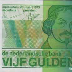 Billetes extranjeros: BILLETES - NETHERLANDS-HOLANDA - 5 GULDEN 1973 - SERIE Nº 4911539391 - PICK-95 (SC). Lote 221401968