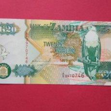 Banconote internazionali: BILLETE DE ZAMBIA 20 KWACHA AÑO 1992 , S/C. Lote 192036566