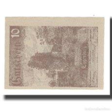 Billetes extranjeros: BILLETE, AUSTRIA, EGGENBURG, 10 HELLER, TEXTE 2, 1920, 1920-12-31, UNC, MEHL:FS. Lote 192097437