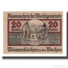 Billetes extranjeros: BILLETE, AUSTRIA, WEISSENKIRCHER IN DER WACHAU, 20 HELLER, TEXTE 7, 1920. Lote 192099557