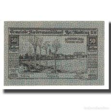 Billetes extranjeros: BILLETE, AUSTRIA, BIEDERMANNSDORF, N.Ö., GEMEINDE, 50 HELLER, N.D, 1920. Lote 192099561