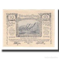Billetes extranjeros: BILLETE, AUSTRIA, DÜRNSTEIN N.Ö. STADTGEMEINDE, 10 HELLER, N.D, 1920. Lote 192099565