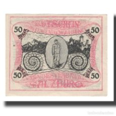 Billetes extranjeros: BILLETE, AUSTRIA, SALZBURG, 50 HELLER, TEXTE 1, 1920, 1920-10-31, UNC, MEHL:FS. Lote 192099578