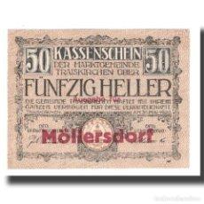 Billetes extranjeros: BILLETE, AUSTRIA, TRAISKIRCHEN, 50 HELLER, TEXTE 1, 1921, 1921-05-31, UNC. Lote 192100580
