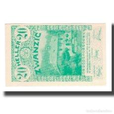 Billetes extranjeros: BILLETE, AUSTRIA, LILIENFELD, 20 HELLER, TEXTE 1, 1920, 1920-12-31, UNC, MEHL:FS. Lote 192100590