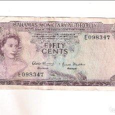 Billetes extranjeros: BILLETE DE 1/2 DÓLAR DE BAHAMAS DE 1968. MBC. WORLD PAPER MONEY-26 (BE672). Lote 192145325