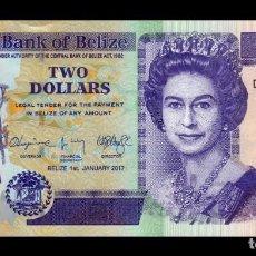 Banconote internazionali: BELICE BELIZE 2 DOLLARS ELIZABETH II 2017 PICK 66F NUEVO SC UNC. Lote 273607833