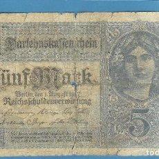 Billetes extranjeros: ALEMANIA. BILLETE DE 5 MARK 1920. Lote 192528983