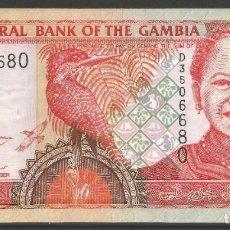 Billetes extranjeros: GAMBIA - 5 DALASIS 2006 - SIN CIRCULAR - COMBINA CON OTROS ARTÍCULOS. Lote 243551865