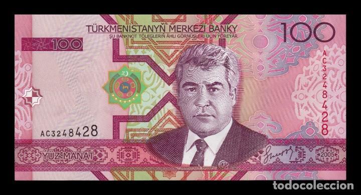 TURKMENISTAN 100 MANAT 2005 PICK 18 SC UNC (Numismática - Notafilia - Billetes Extranjeros)