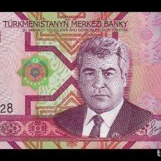 Banconote internazionali: TURKMENISTAN 100 MANAT 2005 PICK 18 SC UNC. Lote 192770118