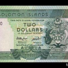 Billetes extranjeros: ISLAS SALOMON SOLOMON 2 DOLLARS 1986 PICK 13 SC UNC. Lote 221951862