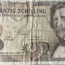 Notas Internacionais: AUSTRIA 20 SHILLING 1967 PICK 142A(1). Lote 193263326