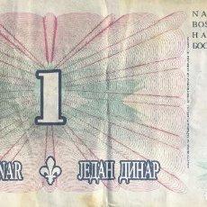 Notas Internacionais: BOSNIA HERZEGOVINA 1 DINAR 1994 PICK 39 . Lote 193293013