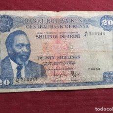 Billetes extranjeros: KENYA. 20 SHILLINGS DE 1969. Lote 193401207