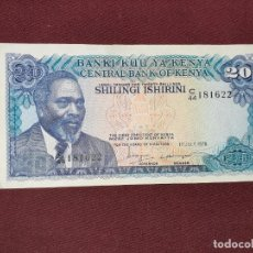 Billetes extranjeros: KENYA. 20 SHILINGI 1978 EBC+. Lote 193633492