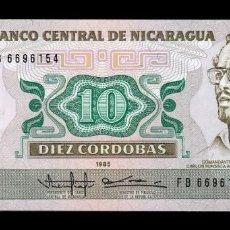 Notas Internacionais: NICARAGUA 10 CÓRDOBAS 1985 (1988) PICK 151 SC UNC. Lote 222426908