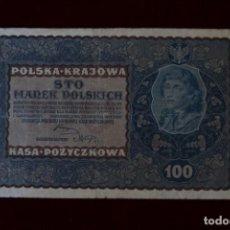 Billetes extranjeros: 100 MARCOS 1919 POLONIA. P# 27. Lote 194208772