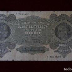 Billetes extranjeros: 10 000 MARCOS 1922 POLONIA. P# 32. Lote 194209192