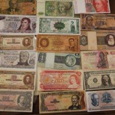 Billetes extranjeros: LOTE DE 39 BILLETES. DISTINTOS PAISES. Lote 194218821